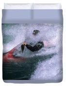White Water Kayaker Duvet Cover