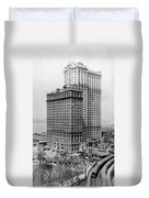 Whitehall Buildings At Battery Place Station In New York City - 1911 Duvet Cover