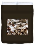 Whitetail Deer Antler  - Half Of 10 Duvet Cover