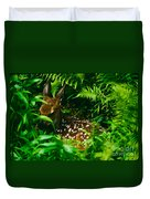 Whitetail Fawn And Ferns Duvet Cover