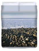 Whitewater From Crashing Waves Washes Duvet Cover