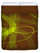 Wide Bands Of Soft Green Light Curve Around Each Other Duvet Cover