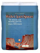 Wide Open Spaces Duvet Cover by Mel Thompson