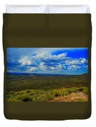 Wide Open Wyoming Sky Duvet Cover