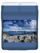 Wide View Of Crater Lake Duvet Cover