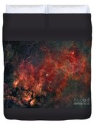 Widefield View Of He Crescent Nebula Duvet Cover