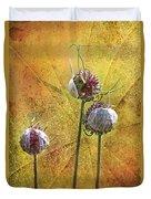 Wild Allium Ala Grunge Duvet Cover
