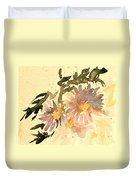 Wild Asters Aged Look Duvet Cover