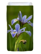 Wild Blue Flag Iris Duvet Cover