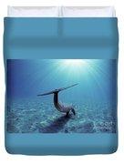 Wild Bottlenose Dolphin Duvet Cover