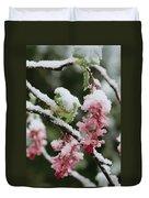 Wild Currant Blossoms Ribes Sanguineum Duvet Cover