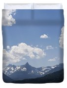 Wild Goose Island Floats In St Mary Lake Duvet Cover