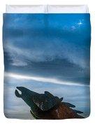 Wild Horse Sculpture Duvet Cover
