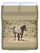 Wild Horses Wyoming - The Mare Duvet Cover
