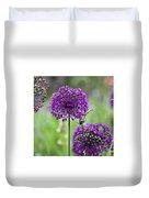 Wild Onion Flower Duvet Cover