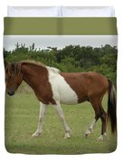 Wild Pony On Assateague Island Maryland Duvet Cover