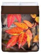 Wild Rose Leaves Duvet Cover
