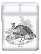 Wild Turkey, 1853 Duvet Cover