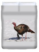 Wild Turkey In The Snow Duvet Cover