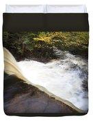 Wilderness Waterfall Autumn Stream Duvet Cover