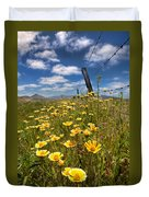 Wildflowers And Barbed Wire Duvet Cover
