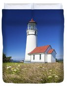 Wildflowers And Cape Blanco Lighthouse Duvet Cover