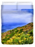 Wildflowers At Point Loma Duvet Cover