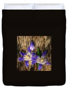 Wildflowers On Wood Duvet Cover