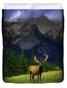 Wildlife In The Mountains Duvet Cover