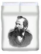 Wilhelm Steinitz (1836-1900) Duvet Cover