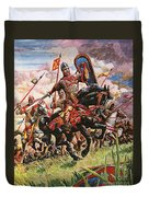 William The Conqueror At The Battle Of Hastings Duvet Cover