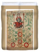 William The Conqueror Family Tree Duvet Cover by Photo Researchers