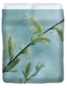 Willow Catkins Duvet Cover by Priska Wettstein