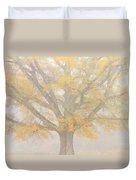 Willow Oak In Fog Duvet Cover by Bill Swindaman