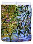 Willows At The Pond Duvet Cover