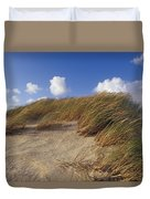 Wind Blown Grass Tussocks Precariously Duvet Cover