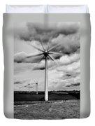 Wind Turbines Mono Duvet Cover