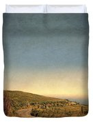 Winding Road To The Sea Duvet Cover