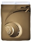 Winding Staircase, Katakolon, Greece Duvet Cover