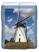 Windmill And Blue Sky Duvet Cover