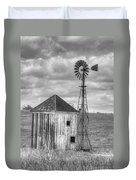Windmill And Shack Duvet Cover