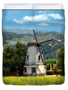 Windmill At Mission Meadows Solvang Duvet Cover