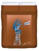 Windmill Blue Duvet Cover