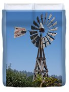 Windmill Blue Sky Duvet Cover