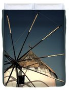 windmill Greece Duvet Cover by Joana Kruse