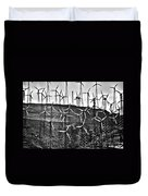 Windmills By Tehachapi  Duvet Cover by Susanne Van Hulst