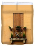 Window And Balcony In Vicenza Duvet Cover