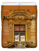 Window And Pediment In Ljubljana Slovenia Duvet Cover