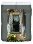 Window In Old Wall Duvet Cover by Jill Battaglia