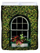 Window On An Ivy Covered Wall Duvet Cover